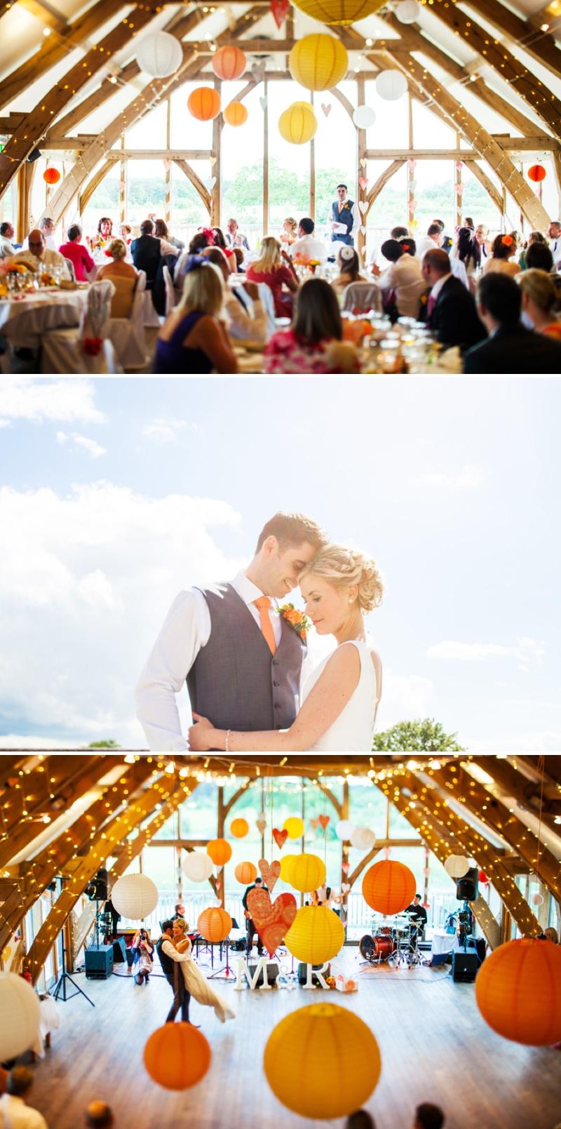 A modern bright colourful wedding at Sanburn Hall York with a bride designed dress_0201