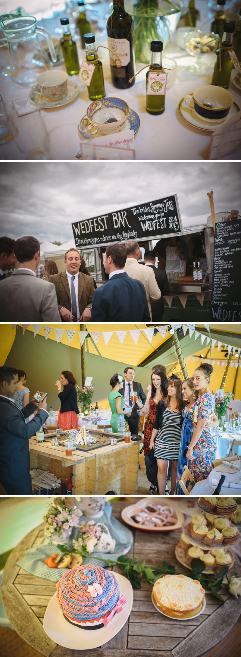 An English summer festival style wedding held in a Tipi with a humanist ceremony with a bride in a Jenny Packham Luna dress and a bride in Miu Miu shoes and a Fur Coat No Knickers Bellini dress._0007