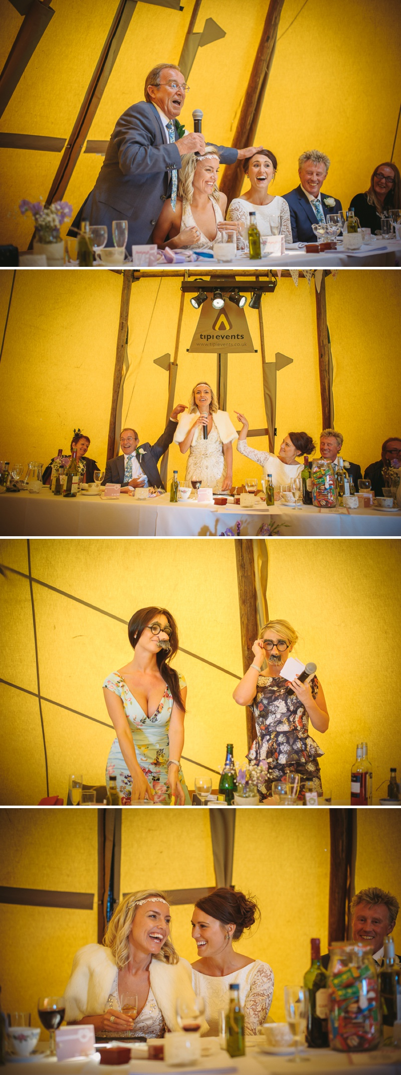 An English summer festival style wedding held in a Tipi with a humanist ceremony with a bride in a Jenny Packham Luna dress and a bride in Miu Miu shoes and a Fur Coat No Knickers Bellini dress._0018