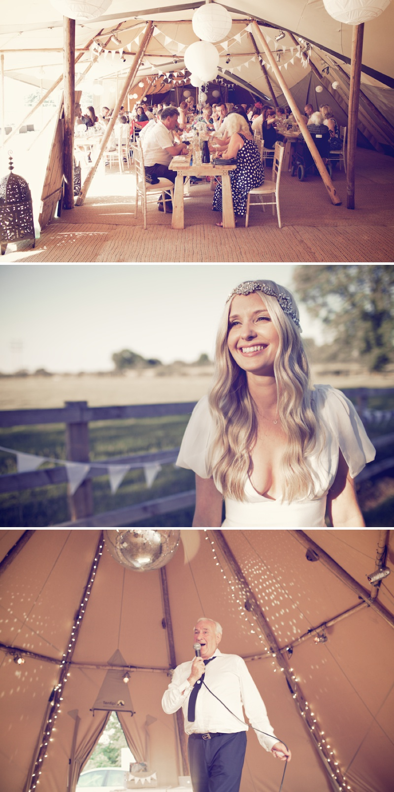 An Ethereal Bohemian Inspired Wedding At Standlow Farm With Tipis From Papakata, A David Fielden Dress And Juliet Cap Veil With A Sweet Avalanche Rose Bouquet 12