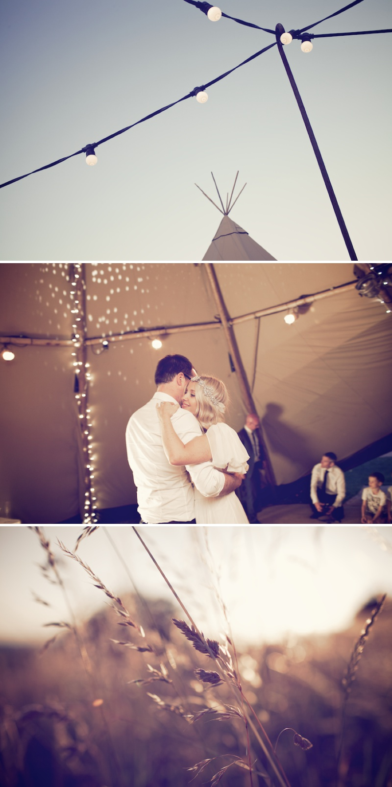 An Ethereal Bohemian Inspired Wedding At Standlow Farm With Tipis From Papakata, A David Fielden Dress And Juliet Cap Veil With A Sweet Avalanche Rose Bouquet 16