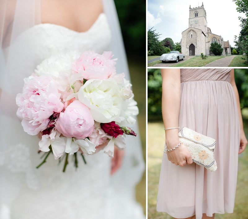 Elegant Church Wedding In Cambridge, Reception At Rectory Farm, Bride In Lace Gown by Benjamin Roberts with Pink Peony Bouquet, Traditional Nigerian Dress, Images by Millie & Belle_0004