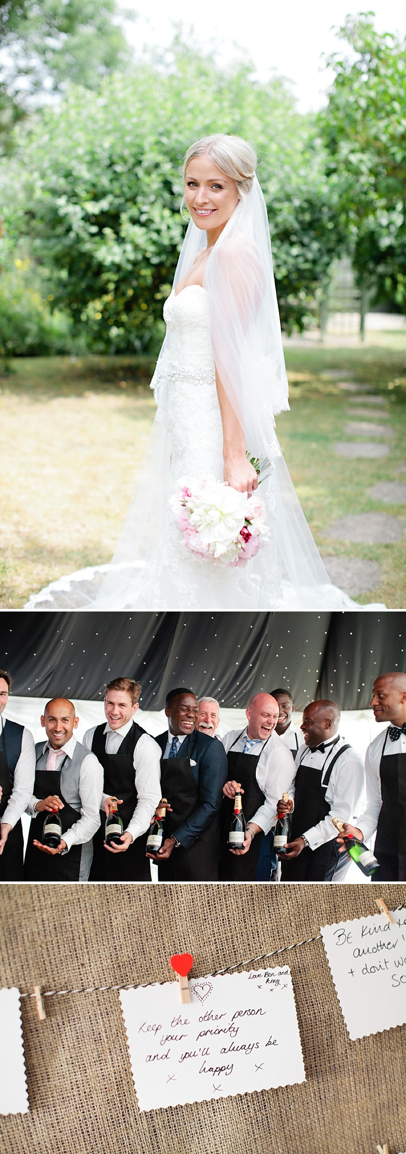 Elegant Church Wedding In Cambridge, Reception At Rectory Farm, Bride In Lace Gown by Benjamin Roberts with Pink Peony Bouquet, Traditional Nigerian Dress, Images by Millie & Belle_0012