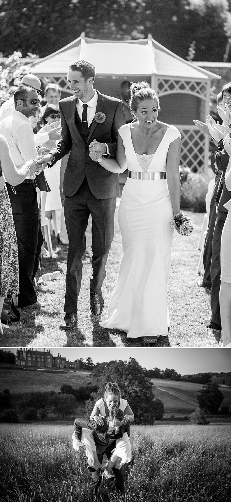 Marquee Wedding In East Sussex, Bride In Self-Designed Gown Made By Angela Webber, With Gold Matthew Williamson Belt, Bright Coloured 50s Style Bridesmaids Dresses, Images by Andrew Marshall_0008