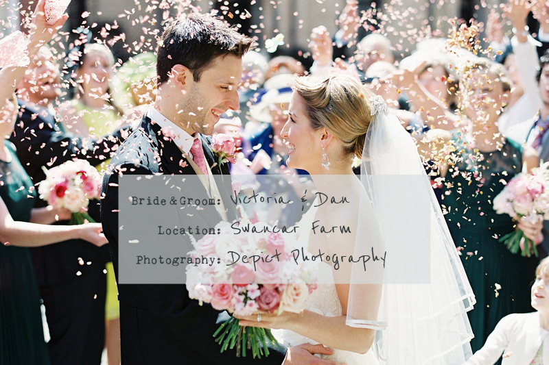 cover-A-Spring-Themed-Wedding-at-Swancar-Farm,-Nottinghamshire,-Bride-in-Fairy-by-Enzoani-with-No-1-by-Jenny-Packham-shoes,-images-by-Depict-Photography