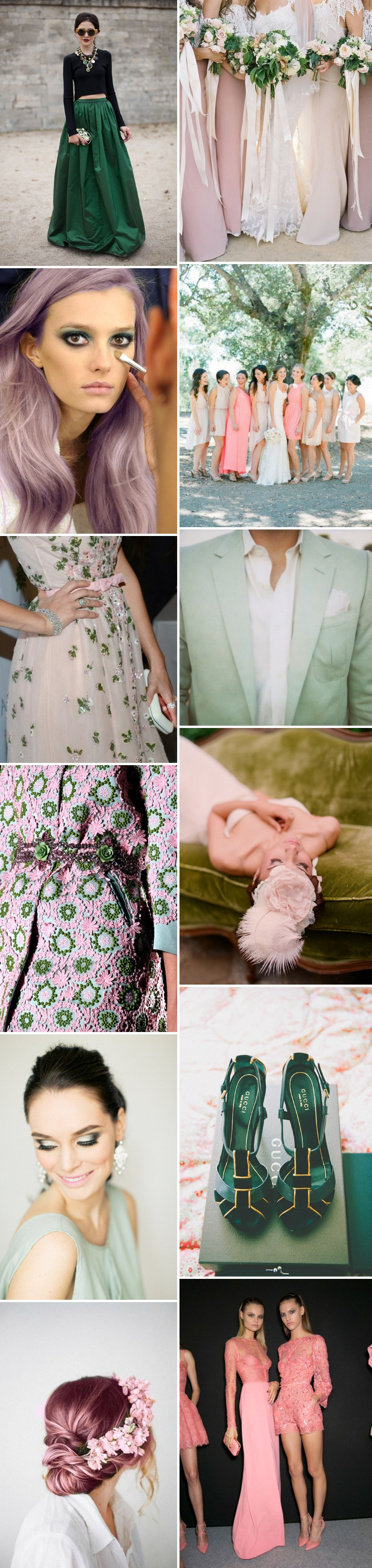 A Beautiful Inspiration Post Showing You How To Incorporate A Pink And Green Colour Scheme Into Your Wedding Day_0001