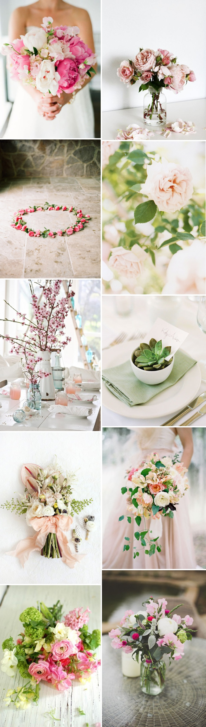 A Beautiful Inspiration Post Showing You How To Incorporate A Pink And Green Colour Scheme Into Your Wedding Day_0002