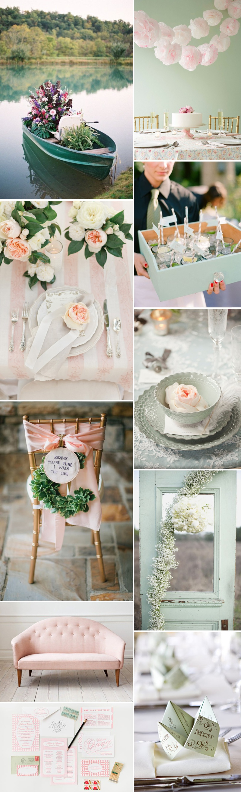 A Beautiful Inspiration Post Showing You How To Incorporate A Pink And Green Colour Scheme Into Your Wedding Day_0003