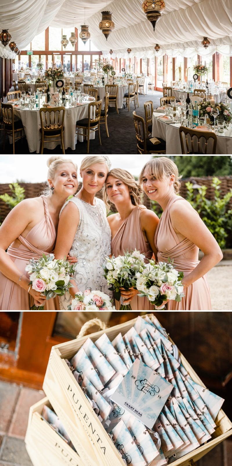A Beautiful Music Inspired Wedding At The Crazy Bear In Stadhampton With A Jenny Packham Esme Wedding Dress and A Pink And Cream Avalanche Rose Bouquet._0011