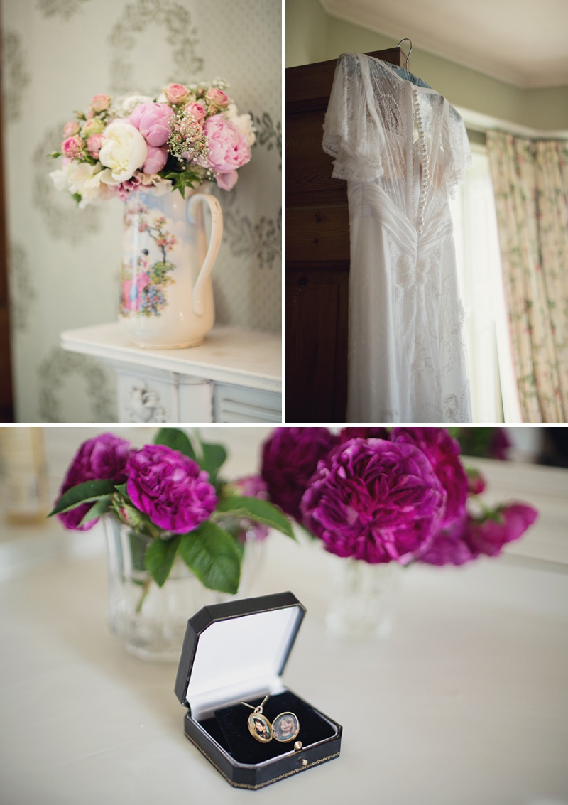 A Beautiful Vintage English Countryside Wedding At Narborough Hall Gardens In Norfolk With An Anoushka G Wedding Dress And An Oversized Pink Peony And Rose Bouquet._0002