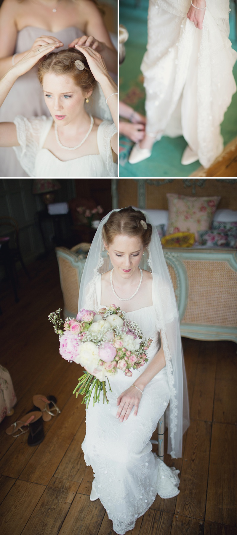 A Beautiful Vintage English Countryside Wedding At Narborough Hall Gardens In Norfolk With An Anoushka G Wedding Dress And An Oversized Pink Peony And Rose Bouquet._0005