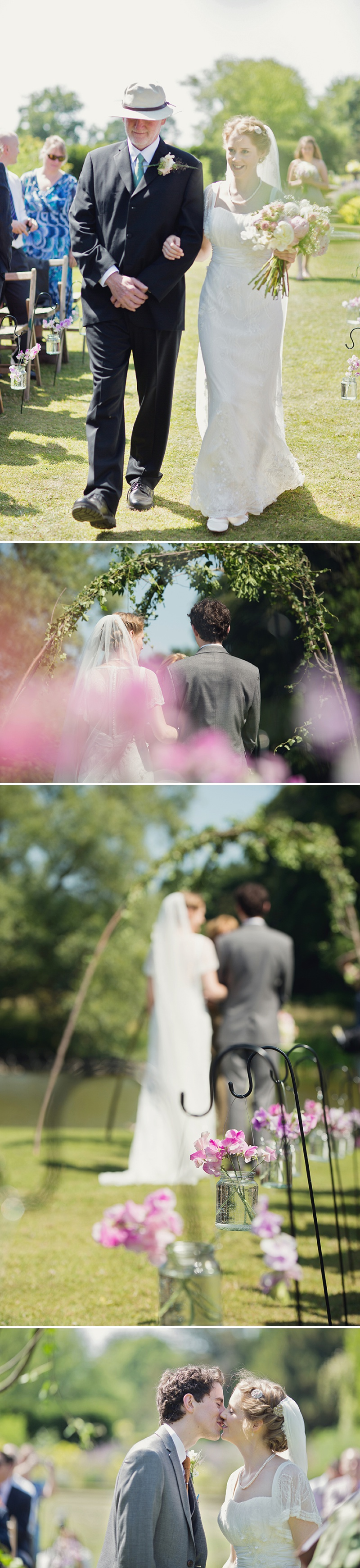 A Beautiful Vintage English Countryside Wedding At Narborough Hall Gardens In Norfolk With An Anoushka G Wedding Dress And An Oversized Pink Peony And Rose Bouquet._0007