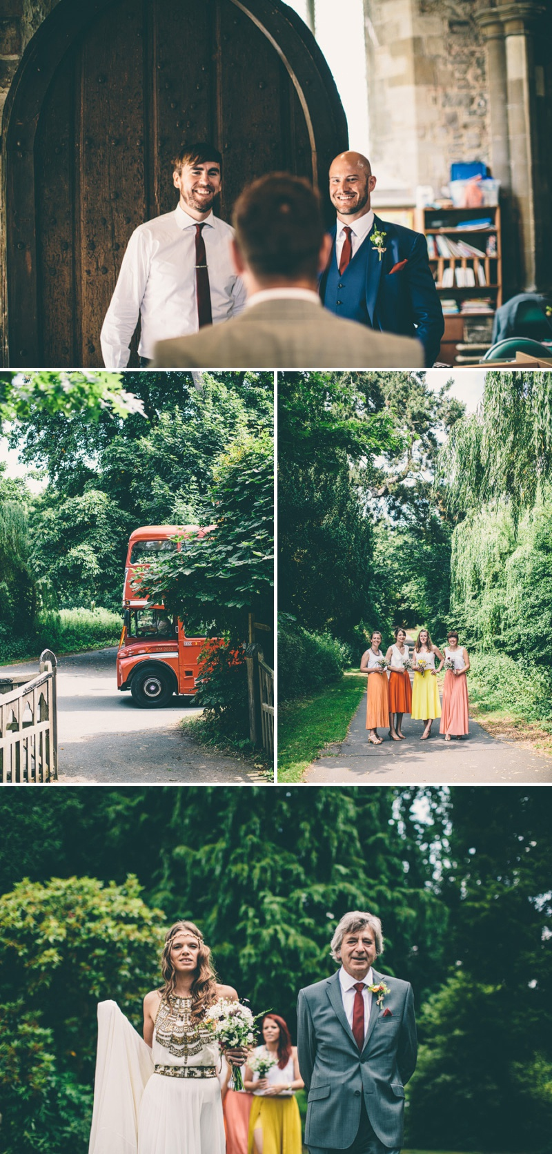 A Maid Marian Festival Inspired Wedding At Glebe Farm With An Amanda Wakeley Cleopatra Dress, Mismatched Bridesmaids And A Vintage Rosie Weisencrantz Headpiece._0006