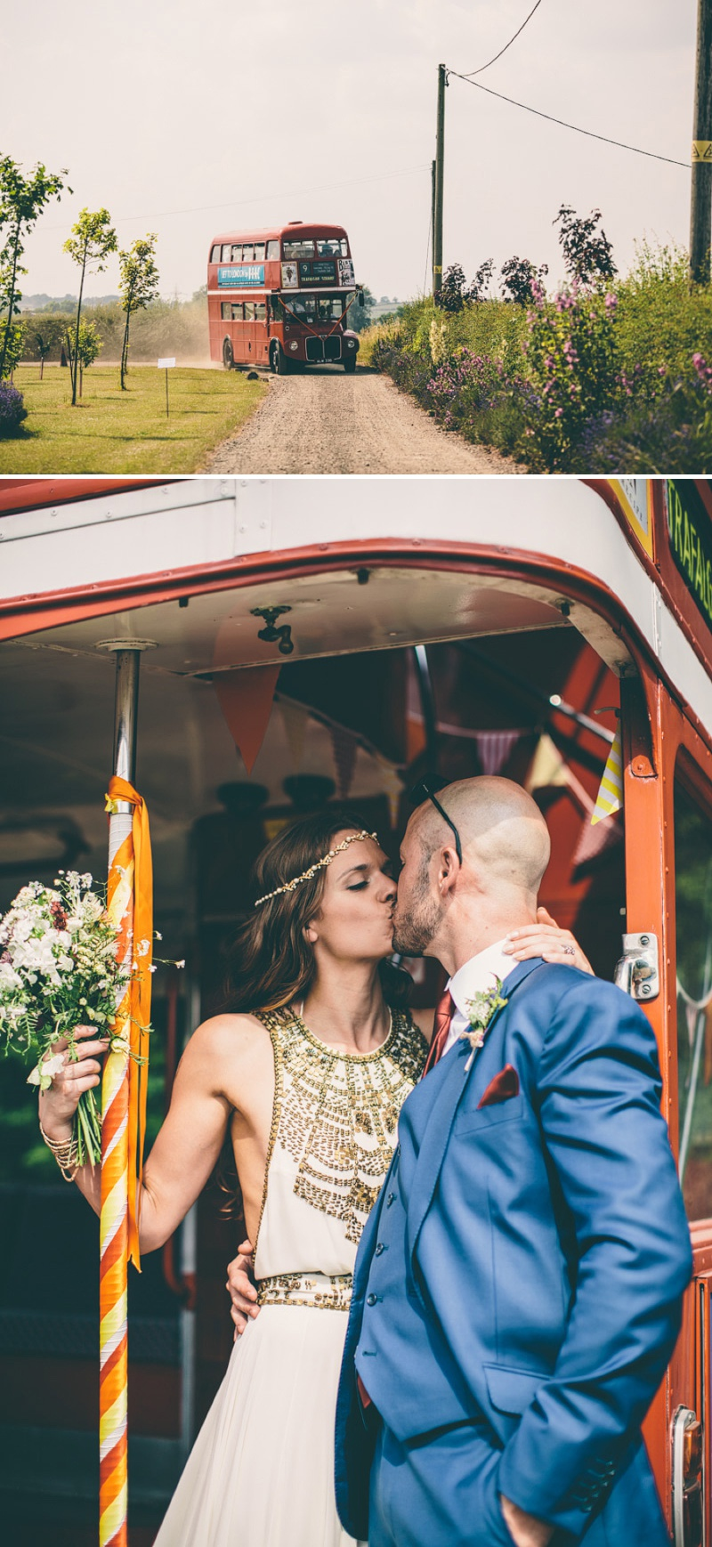 A Maid Marian Festival Inspired Wedding At Glebe Farm With An Amanda Wakeley Cleopatra Dress, Mismatched Bridesmaids And A Vintage Rosie Weisencrantz Headpiece._0009
