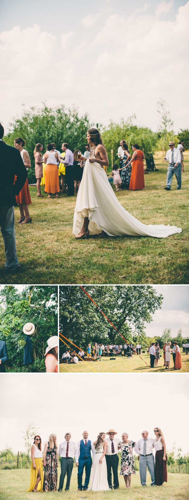 A Maid Marian Festival Inspired Wedding At Glebe Farm With An Amanda Wakeley Cleopatra Dress, Mismatched Bridesmaids And A Vintage Rosie Weisencrantz Headpiece._0011