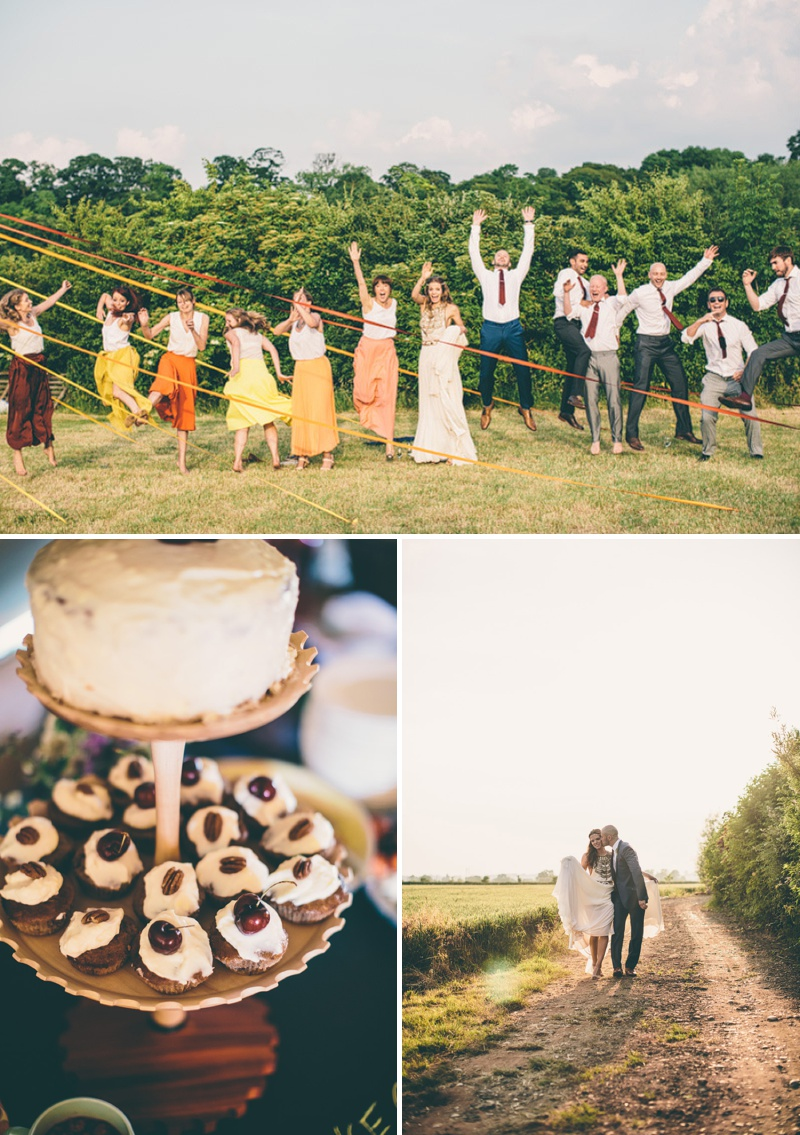 A Maid Marian Festival Inspired Wedding At Glebe Farm With An Amanda Wakeley Cleopatra Dress, Mismatched Bridesmaids And A Vintage Rosie Weisencrantz Headpiece._0013