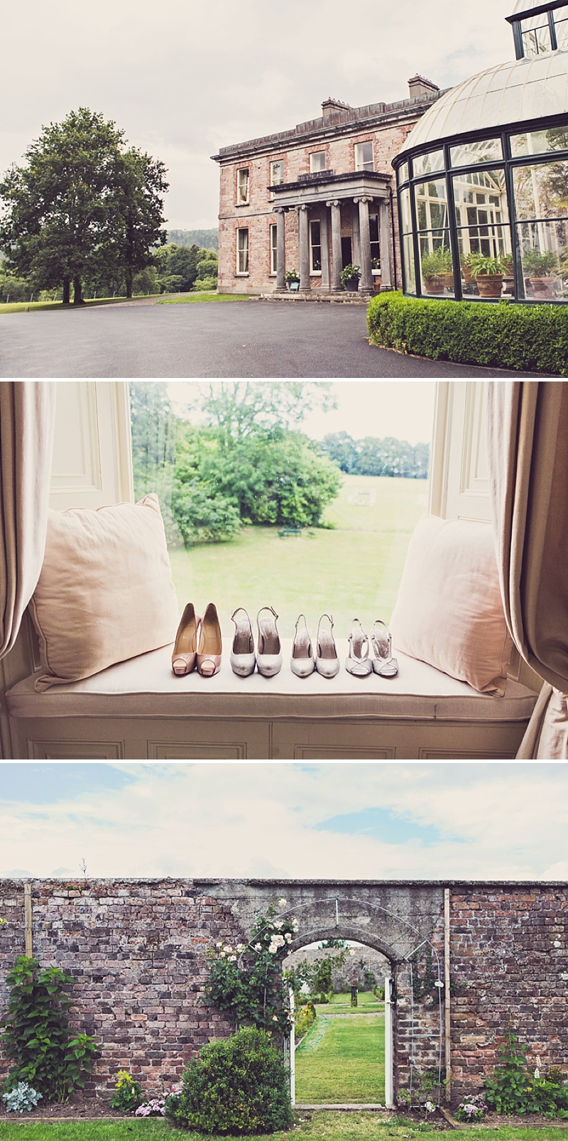 A Purple And Ivory Contemporary Wedding At Kilshane House In Tipperary Ireland With Bride In Aspen By Jenny Packham And Nude Christian Louboutin Peeptoes Images By Claire Penn_0001