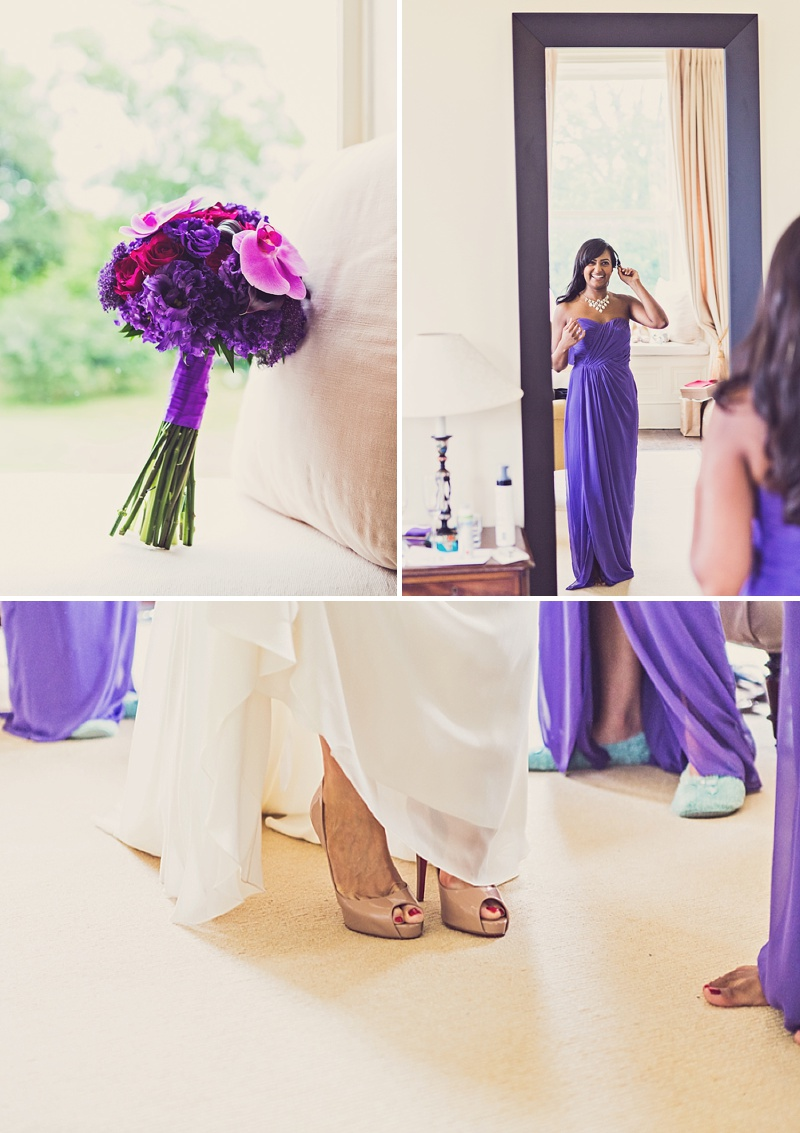 A Purple And Ivory Contemporary Wedding At Kilshane House In Tipperary Ireland With Bride In Aspen By Jenny Packham And Nude Christian Louboutin Peeptoes Images By Claire Penn_0005