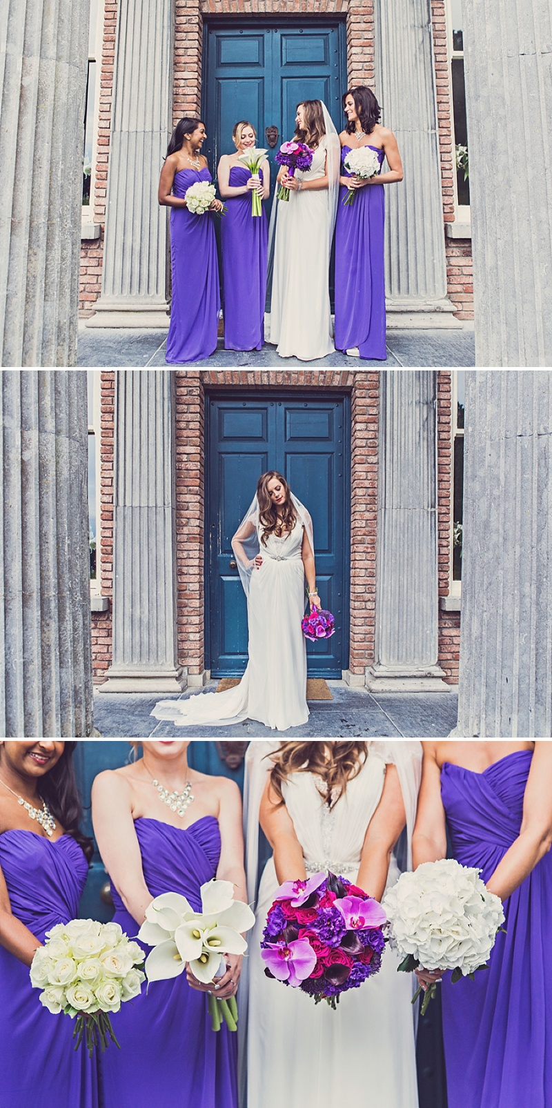A Purple And Ivory Contemporary Wedding At Kilshane House In Tipperary Ireland With Bride In Aspen By Jenny Packham And Nude Christian Louboutin Peeptoes Images By Claire Penn_0007