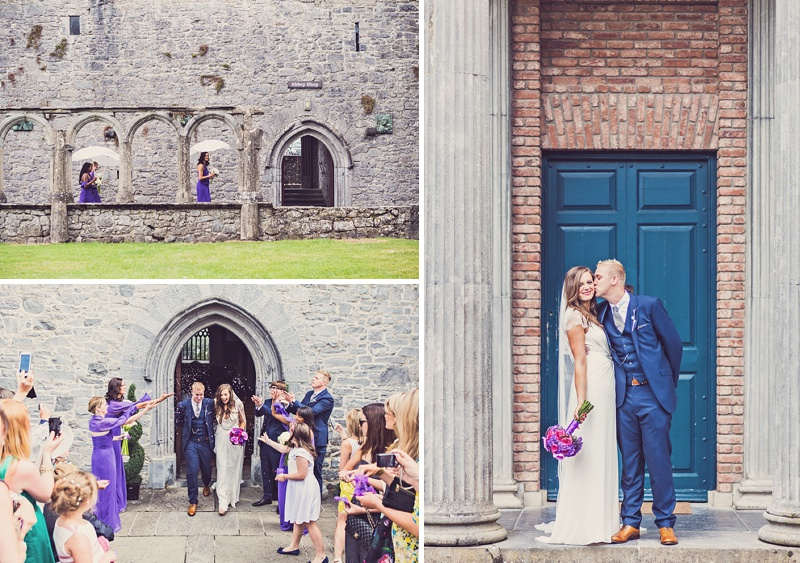 A Purple And Ivory Contemporary Wedding At Kilshane House In Tipperary Ireland With Bride In Aspen By Jenny Packham And Nude Christian Louboutin Peeptoes Images By Claire Penn_0009