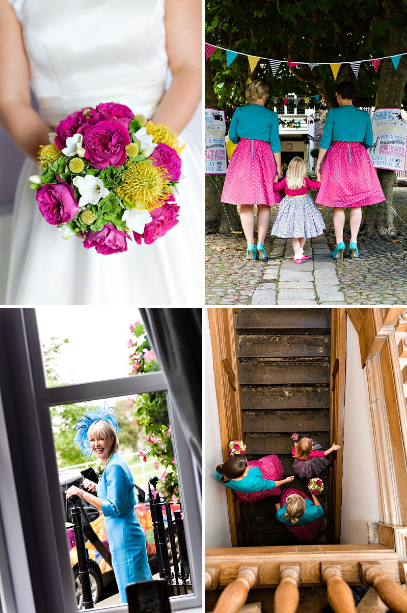 A Vintage Circus Themed Wedding With Brightly Coloured Balloons And Bunting, Gold Glittery Table Numbers, Smarties As Favours And A Carosel Cake Topper Bride In Kiki By Kurt Geiger With Images From Shoot Photography_0008