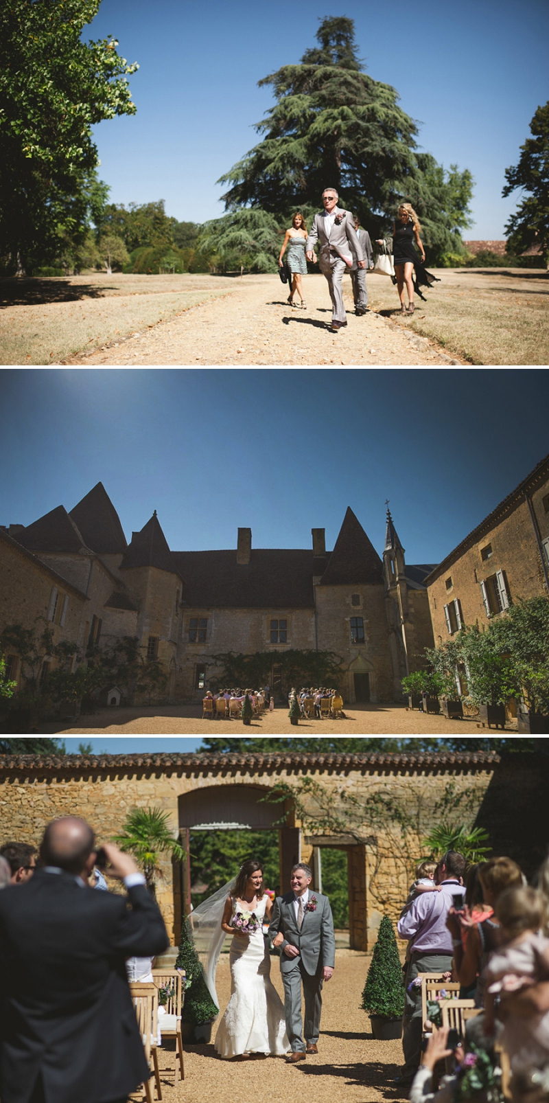A beautiful elegant wedding at chateau de la bourlie in the Dordogne France with a Jim Hjelm Gown_0261
