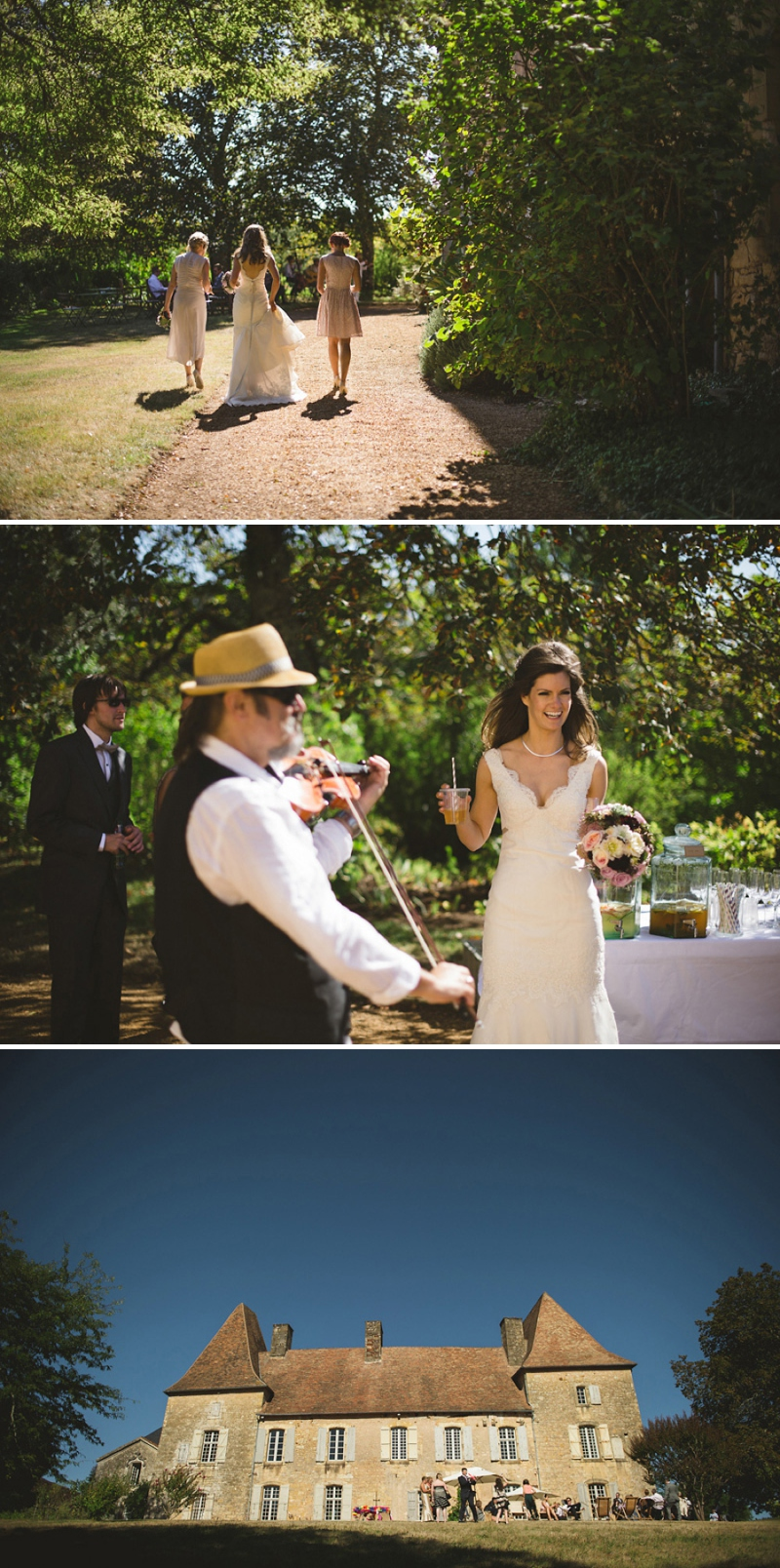 A beautiful elegant wedding at chateau de la bourlie in the Dordogne France with a Jim Hjelm Gown_0264