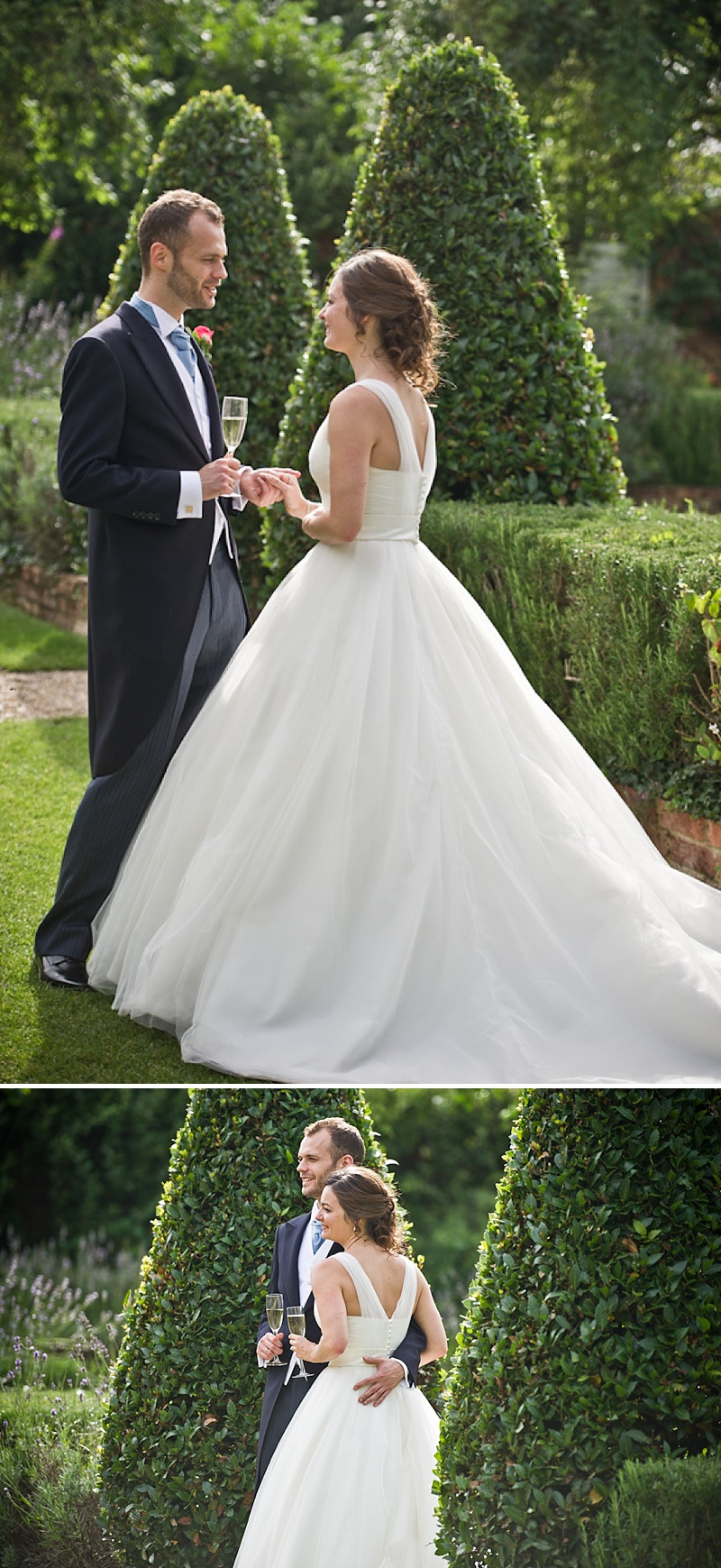 An Elegant Contemporary Wedding At Northbrook Park Farnham With Bride In Ellis Bridal Gown And Blue Benjamin Adams Shoes And Bridesmaids In Ted Baker Images By Especially Amy_0017