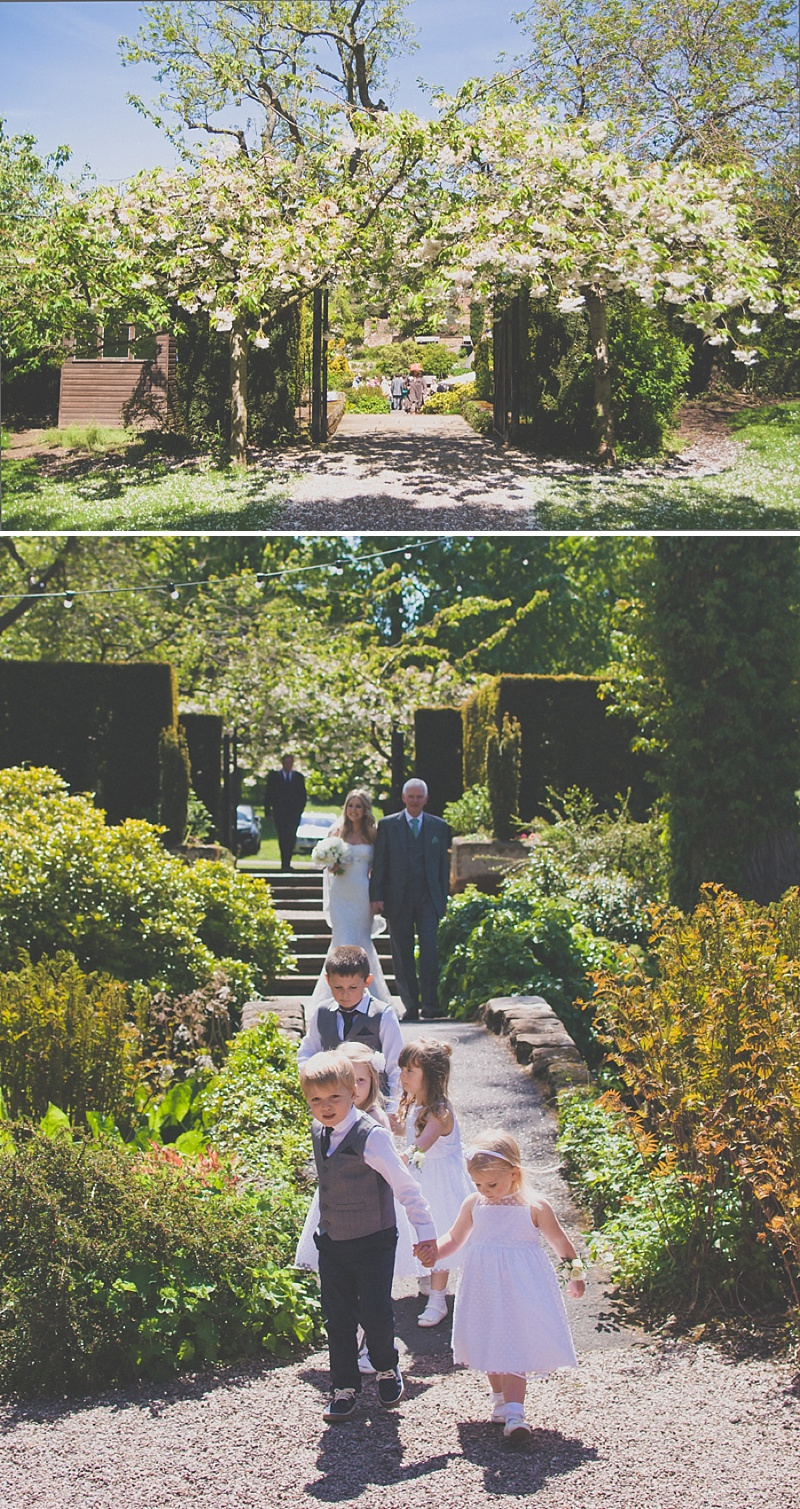 an white themed wedding at the ness botanic gardens with in chagne from blue by