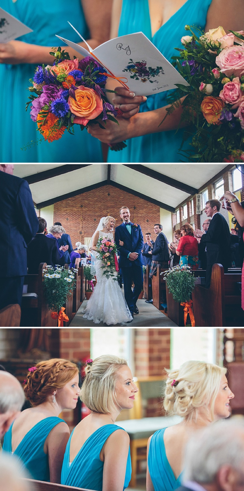 Colourful Rustic Wedding At The Rickety Barn Cambridgeshire Bride In Benjamin Roberts Gown Groom In Navy Cad And The Dandy Suit Images By Richard Skins025