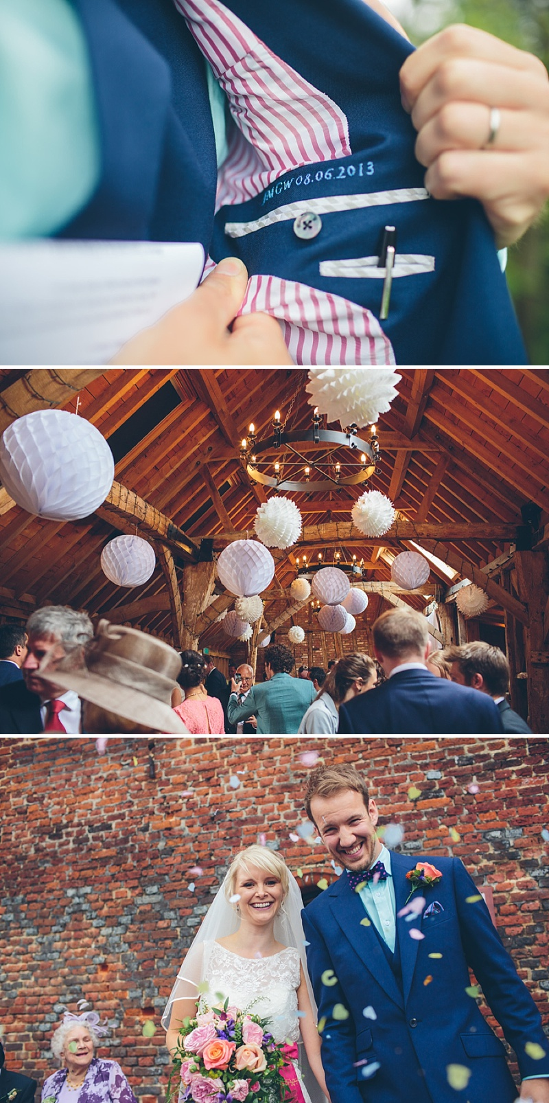 Colourful Rustic Wedding At The Rickety Barn Cambridgeshire Bride In Benjamin Roberts Gown Groom In Navy Cad And The Dandy Suit Images By Richard Skins029