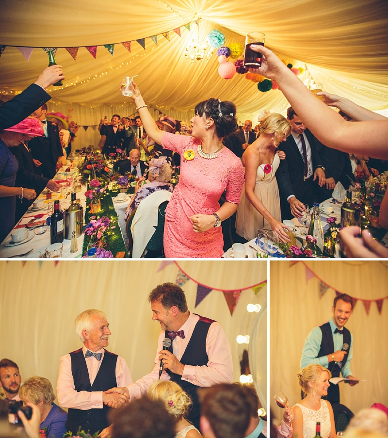 Colourful Rustic Wedding At The Rickety Barn Cambridgeshire Bride In Benjamin Roberts Gown Groom In Navy Cad And The Dandy Suit Images By Richard Skins030