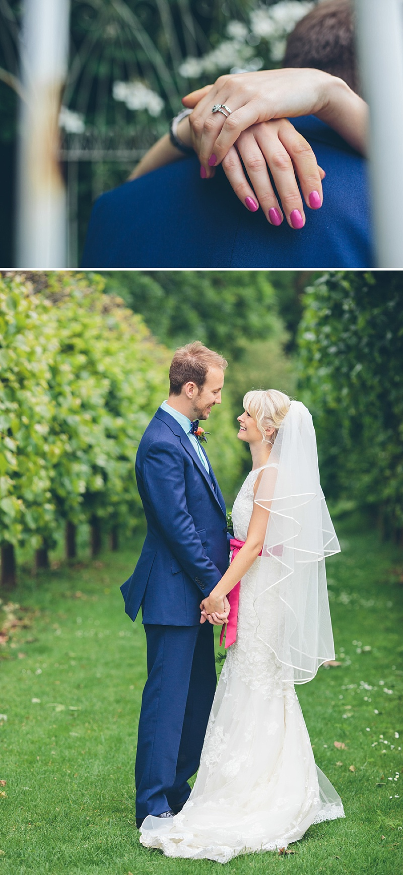 Colourful Rustic Wedding At The Rickety Barn Cambridgeshire Bride In Benjamin Roberts Gown Groom In Navy Cad And The Dandy Suit Images By Richard Skins032