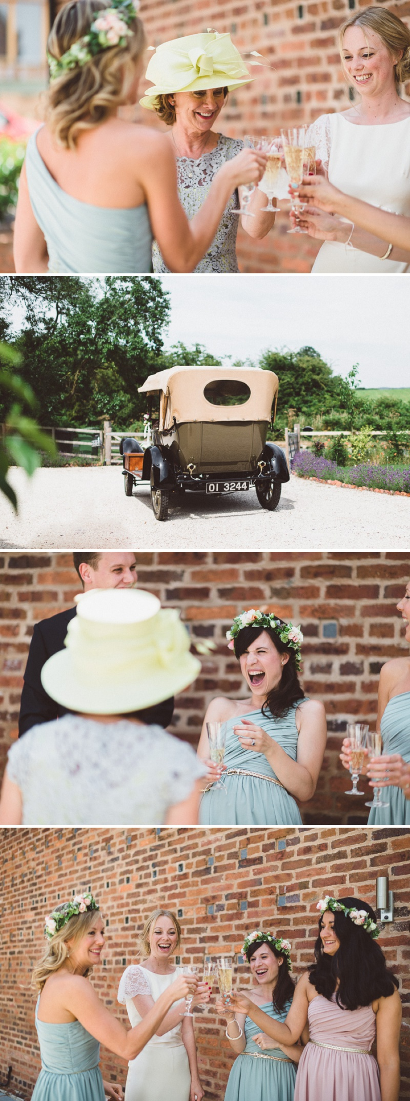 A Beautiful Bohemian Back Garden English Wedding With A Silk Charlie Brear Dress With Lace Cap Sleeves And Flower Crowns From Rhys Parker Photography._0006