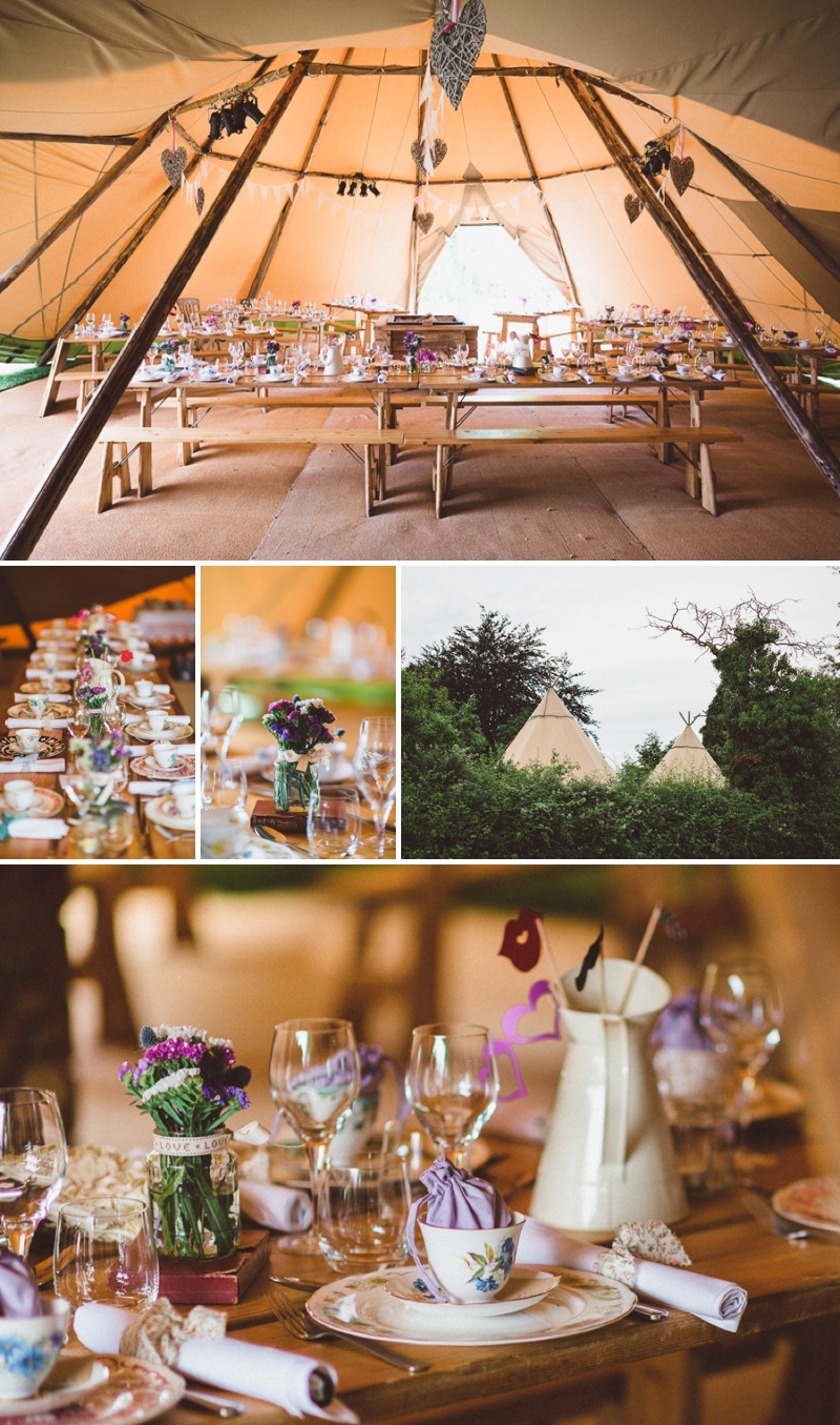 A Beautiful Bohemian Back Garden English Wedding With A Silk Charlie Brear Dress With Lace Cap Sleeves And Flower Crowns From Rhys Parker Photography._0012