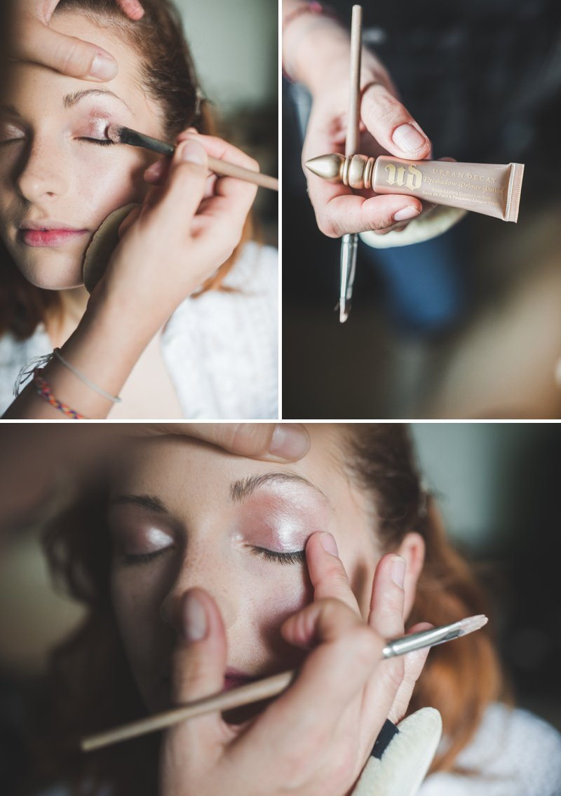 A Bridal Beauty Tutorial Showing Brides How To Create The Perfect Berry Lip and Metallic Eye For Their Wedding Day._0008