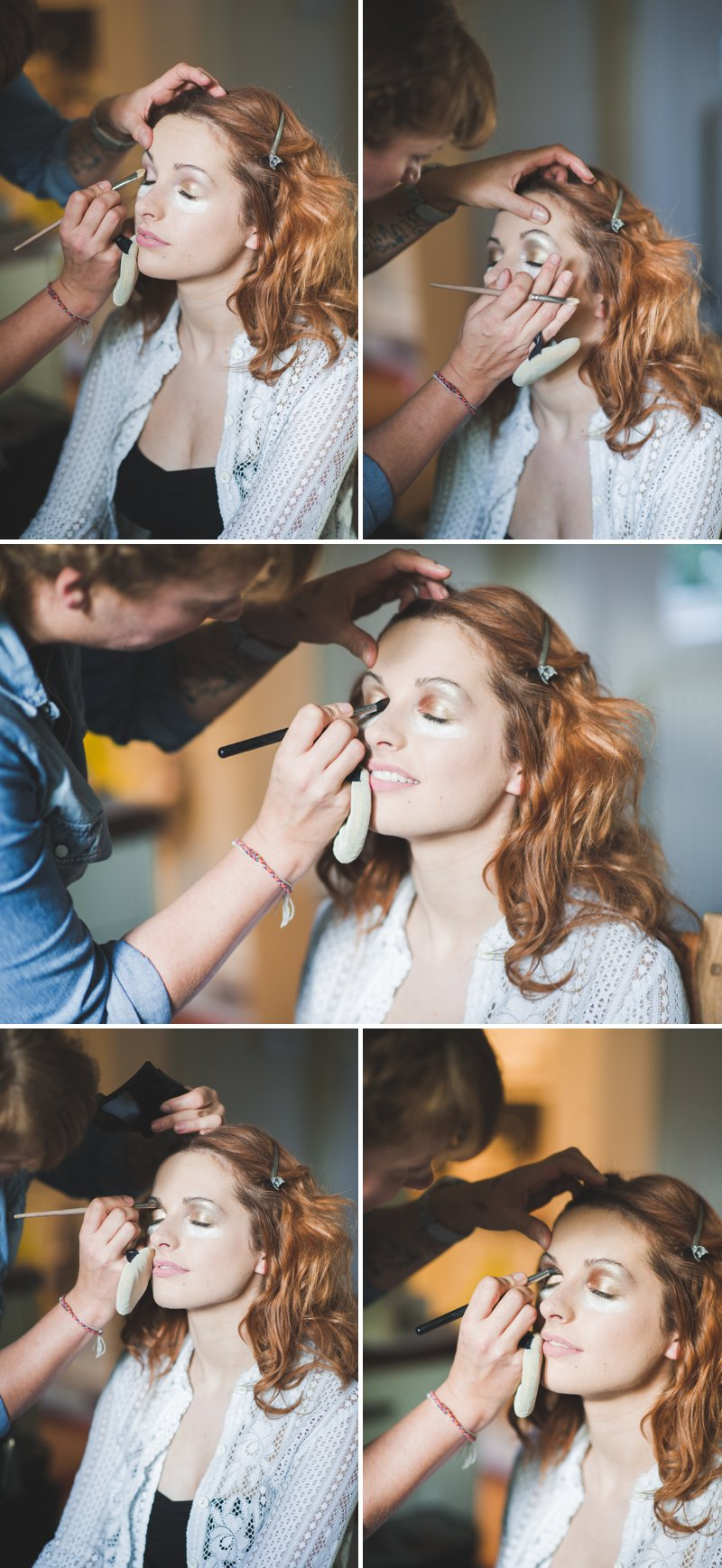 A Bridal Beauty Tutorial Showing Brides How To Create The Perfect Berry Lip and Metallic Eye For Their Wedding Day._0019