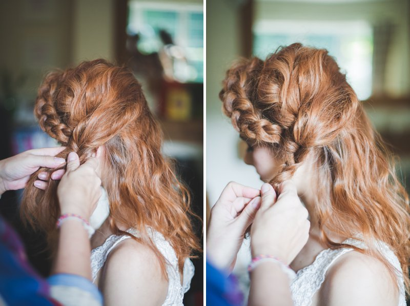 A Bridal Hair Tutorial Showing Brides How To Create Perfect Tousled Sexy Waves and A Boho Braided Updo For Your Wedding Day._0009