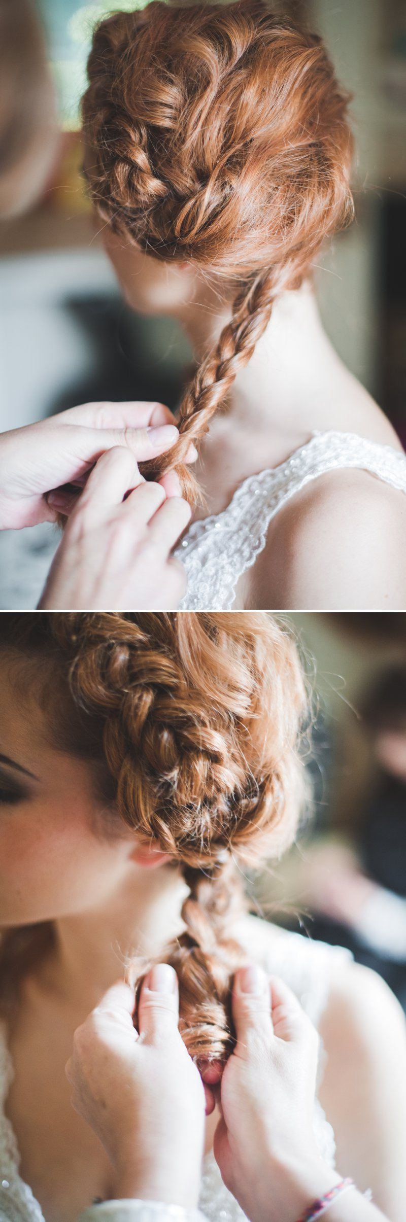 A Bridal Hair Tutorial Showing Brides How To Create Perfect Tousled Sexy Waves and A Boho Braided Updo For Your Wedding Day._0010