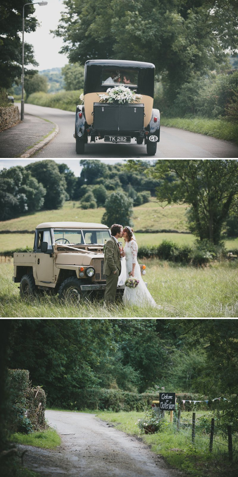 A Rustic Garden Wedding With A Ronald Joyce Lace Dress And A Handpicked Bouquet With A Groom In Tweed Photographed By McKinley-Rodgers_0007