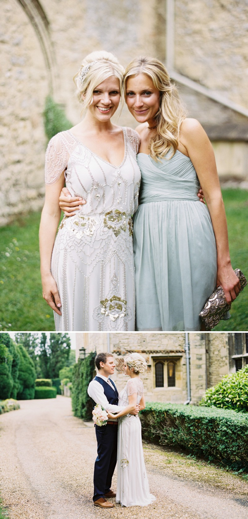 An English Country Garden And Art Deco Themed Wedding With A Jenny Packham Eden Dress At Notley Abbey And A Peony Bouquet._15