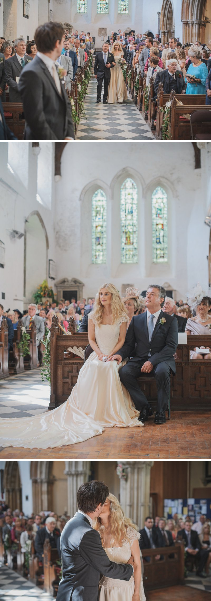 An Ethereal Summer Woodland Wedding At Hilton Court Gardens In Pembrokeshire Wales With A Silk Stephanie Allin Dress And An Amnesia Rose Bouquet Photographed By O&C Photography._0005