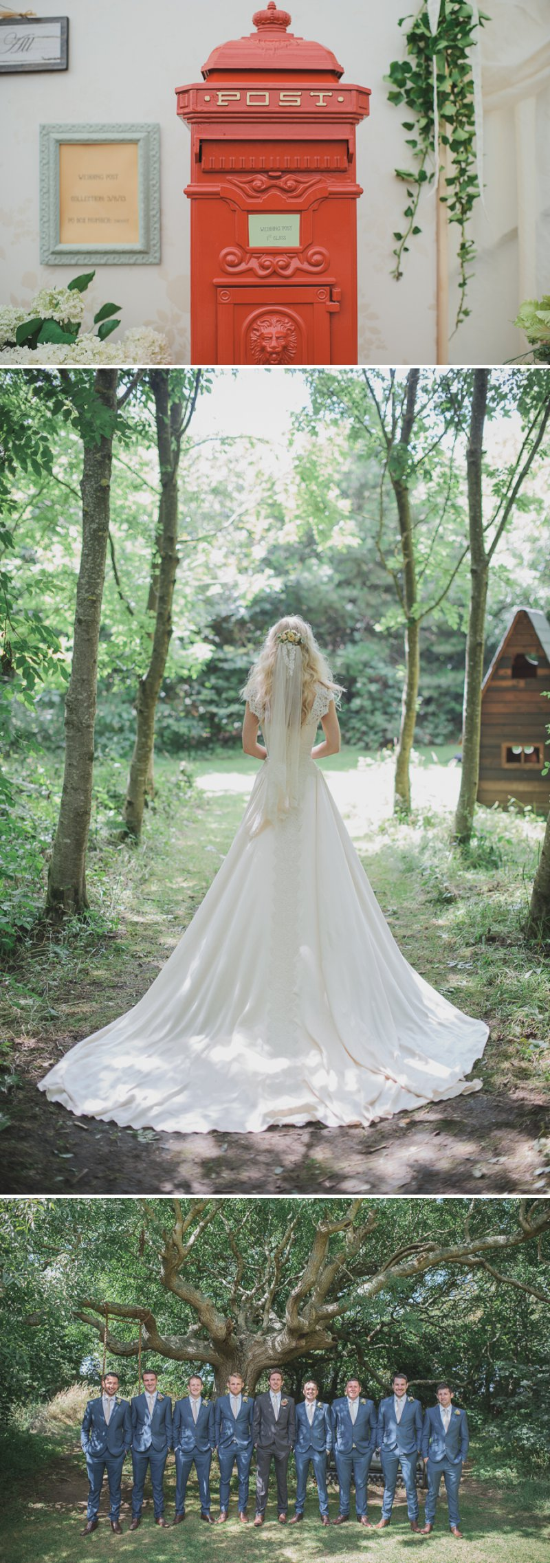 An Ethereal Summer Woodland Wedding At Hilton Court Gardens In Pembrokeshire Wales With A Silk Stephanie Allin Dress And An Amnesia Rose Bouquet Photographed By O&C Photography._0010