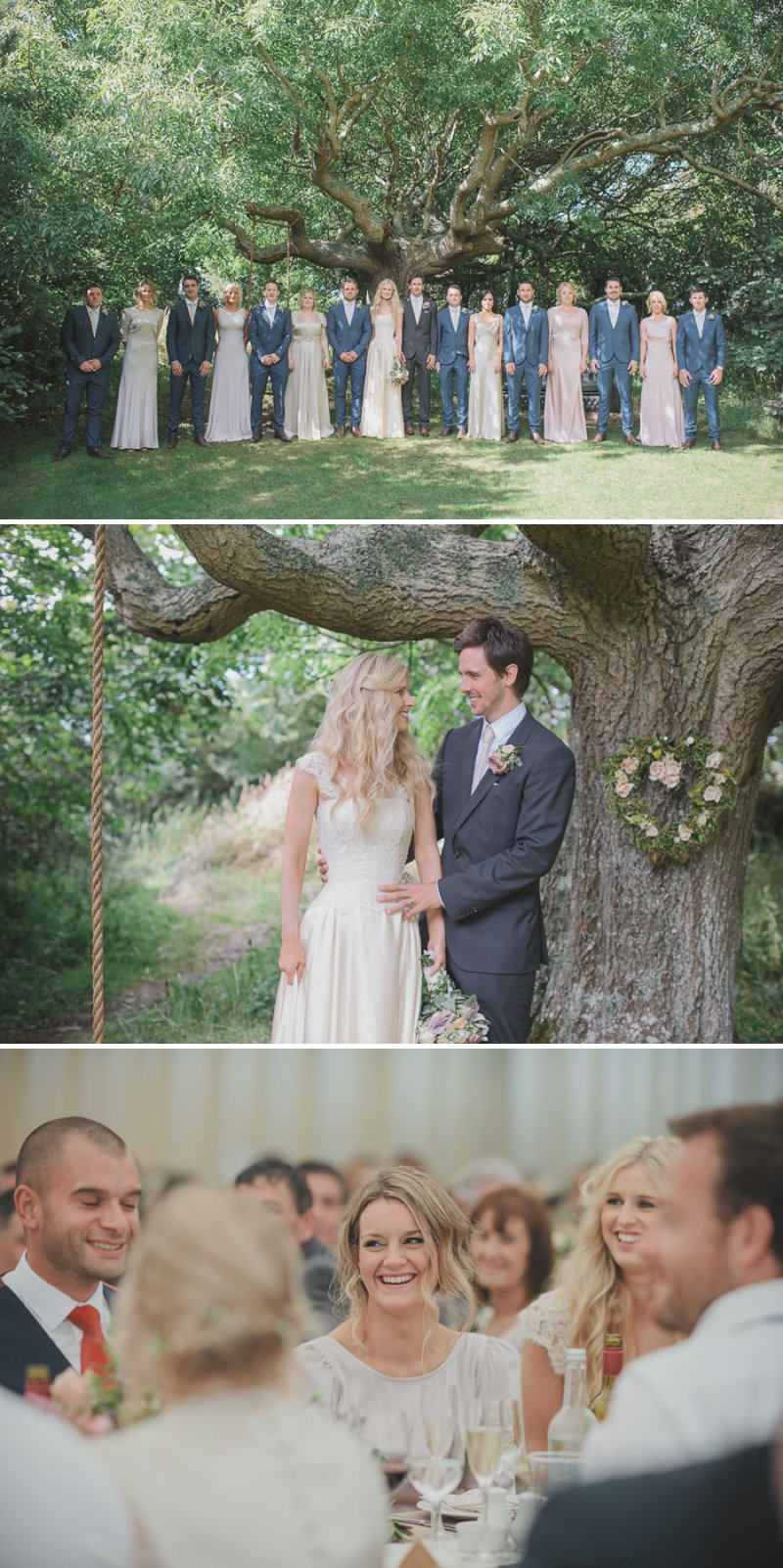 An Ethereal Summer Woodland Wedding At Hilton Court Gardens In Pembrokeshire Wales With A Silk Stephanie Allin Dress And An Amnesia Rose Bouquet Photographed By O&C Photography._0011