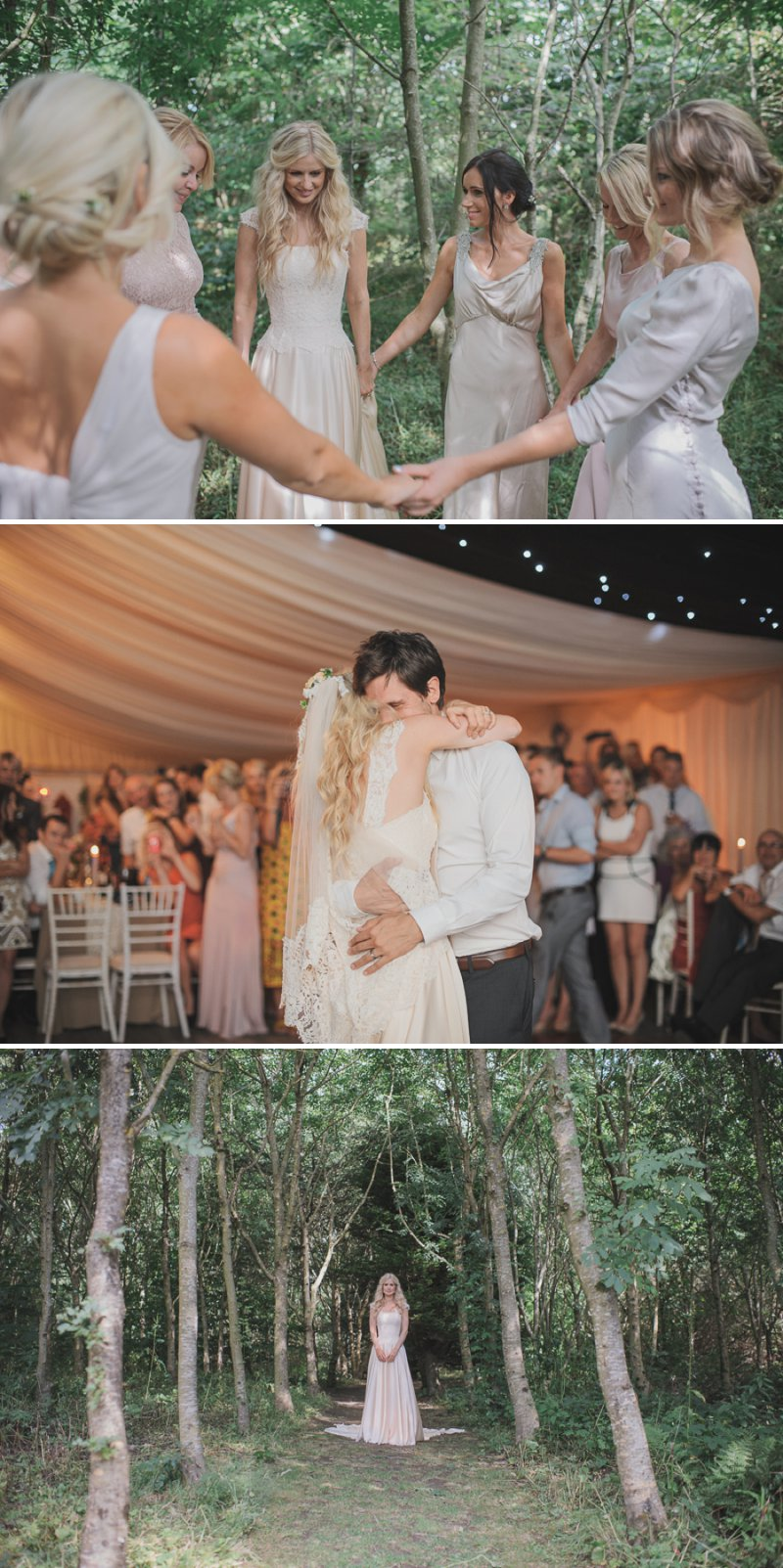 An Ethereal Summer Woodland Wedding At Hilton Court Gardens In Pembrokeshire Wales With A Silk Stephanie Allin Dress And An Amnesia Rose Bouquet Photographed By O&C Photography._0014
