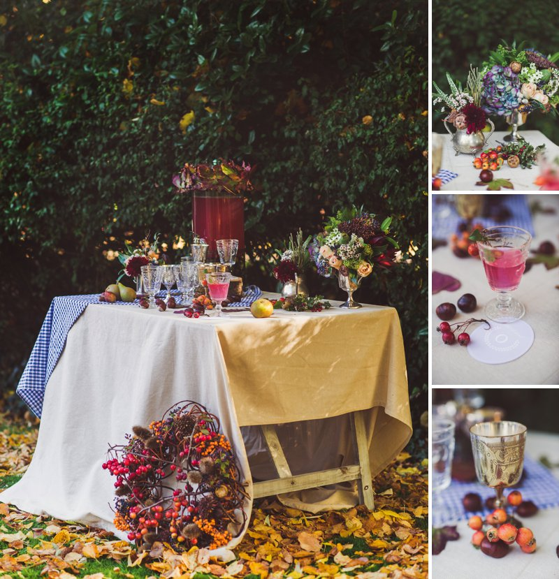 Autumn Fall Inspired Wedding Decor and Fashion Editorial by Rock My Wedding With Florals By Mrs Umbels, Make-up By Claire Salter Photographed By Rebekah J Murray._0019