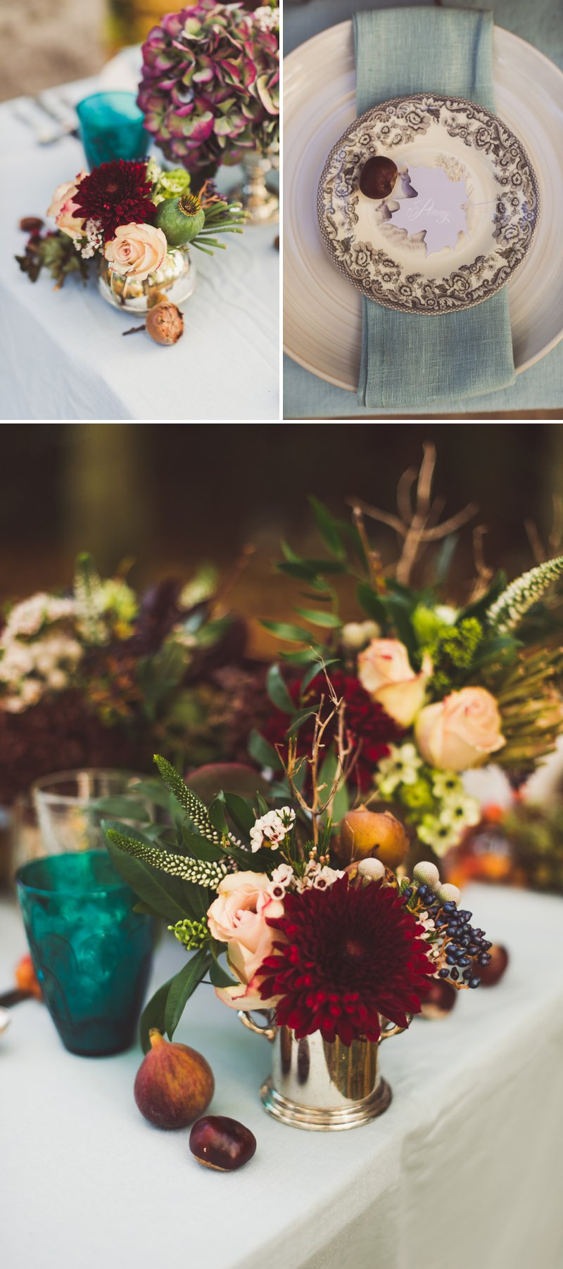 Autumn Fall Inspired Wedding Decor and Fashion Editorial by Rock My Wedding With Florals By Mrs Umbels, Make-up By Claire Salter Photographed By Rebekah J Murray._0029