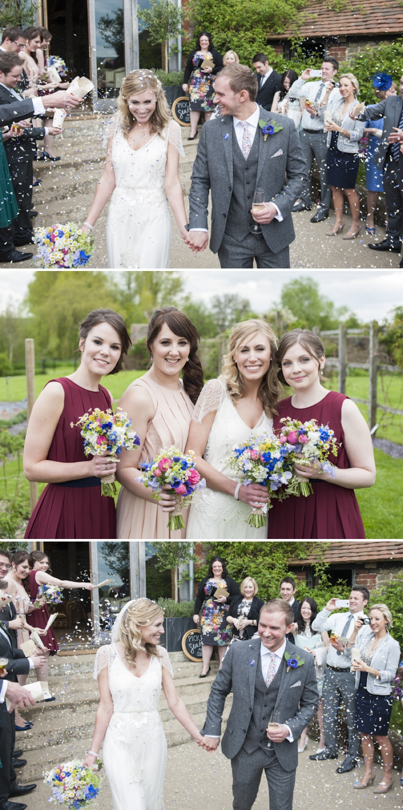 Eden by Jenny Packham in Ivory for a romantic rustic wedding at Grittenham Barn West Sussex_0376