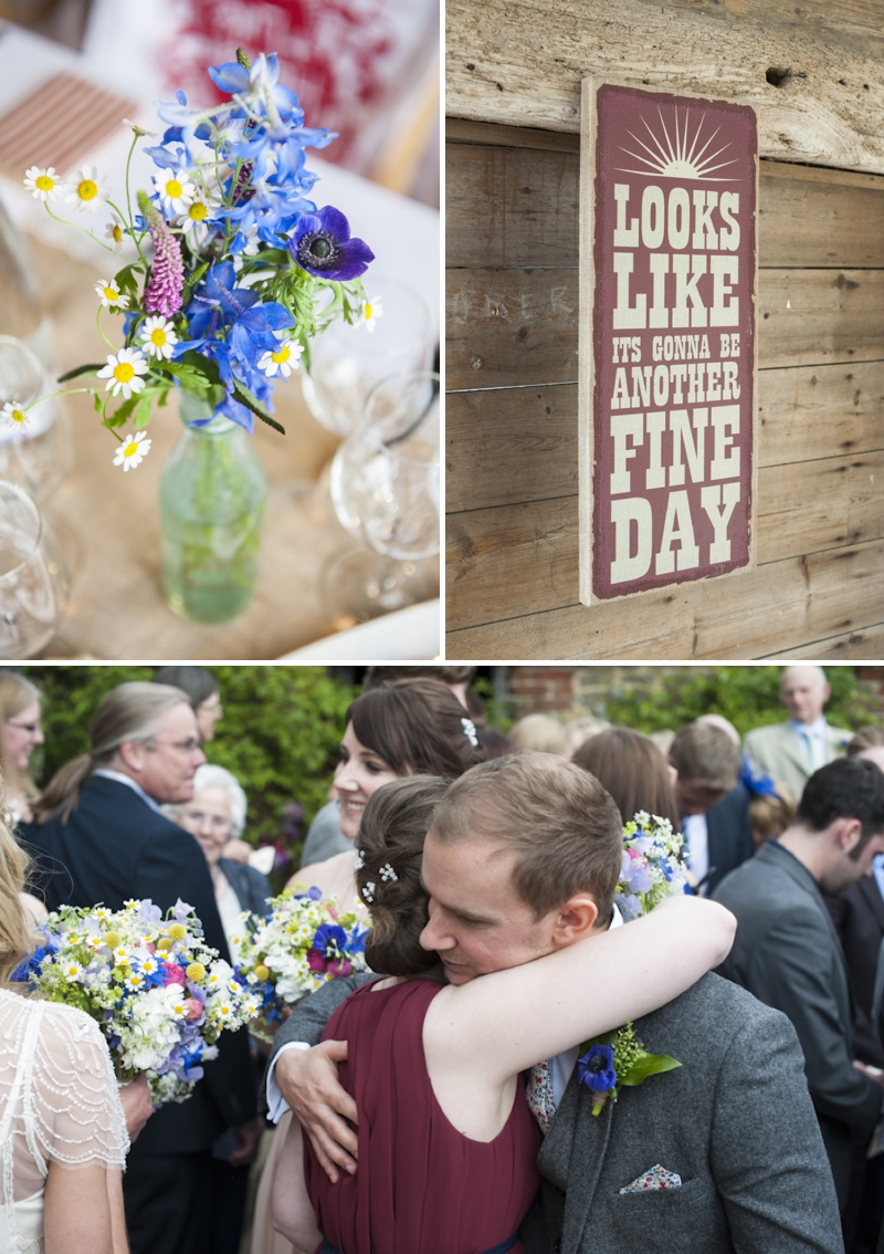 Eden by Jenny Packham in Ivory for a romantic rustic wedding at Grittenham Barn West Sussex_0380