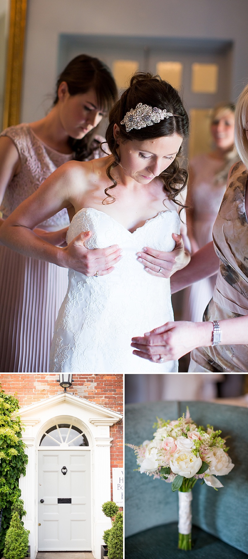 Elegant Wedding At Holkham Hall Norfolk With Bride In Hepburn By Suzanne Neville With Rachel Simpson Bridal Shoes And Nude Bridemaids Dresses From Ted Baker Images From Katherine Ashdown_0005